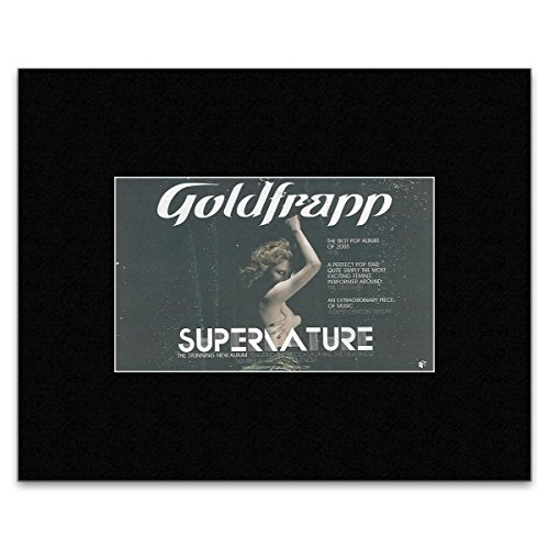 GOLDFRAPP - Supernature Matted Mini Poster - 13.5x21cm
