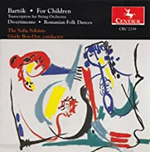 For Children, BB 53, Vol. 1 (based on Hungarian folk tunes) (arr. L. Weiner for string orchestra): No. 20. Drinking song