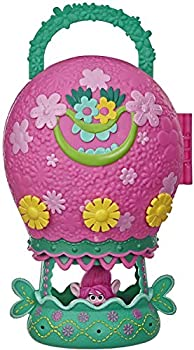 Trolls DreamWorks World Tour Tour Balloon Toy Playset with Poppy Doll with Storage and Handle for On-The-Go Play Girls 4 Years and Up