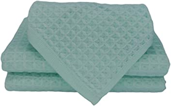 Free weekend Honeycomb Cotton Plain Weave Towel Bath Towel Set (Fluorescent Green)