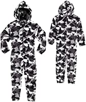 CityComfort Kids Onesie, All in One Pyjamas, Fleece Zip Up Jumpsuit Kinderen en tieners, Super zachte Hooded Childrens...