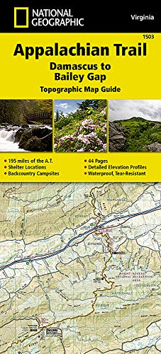 Appalachian Trail, Damascus to Bailey Gap [Virginia] (National Geographic Topographic Map Guide (1503))