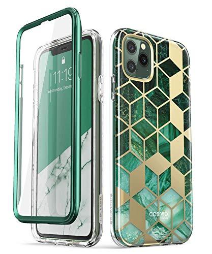 i-Blason iPhone 11 Pro Hülle Glitzer Handyhülle 360 Grad Case Bling Schutzhülle Bumper Cover [Cosmo] mit integriertem Displayschutz 5.8 Zoll 2019 Ausgabe (Grün)