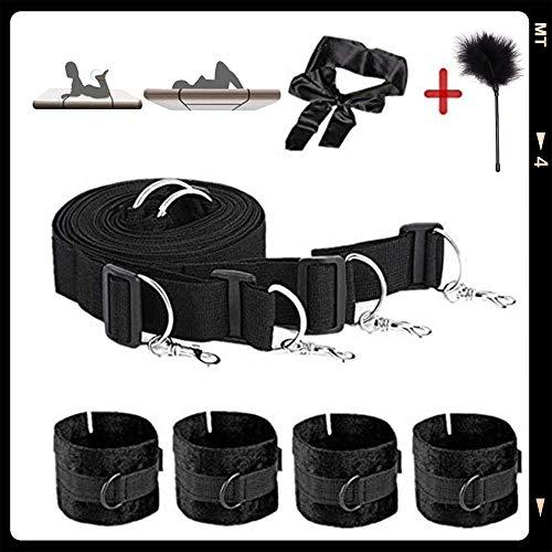 qisong Schwarz Plüsch Bett Hand und Fuß-Set Spielzeug Befestigung