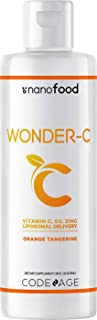 Sponsored Ad - Nanofood Wonder-C Liposomal Vitamin C Liquid Supplement Vitamin D3, E & Zinc, Rose Hips, Quercetin & Echina...