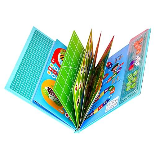 TOYANDONA 1 Set Fliegen Schach Spiel Holz Faltbare Bord Spiele Reise Brettspiel Eltern- Kind Verkehrs Thema Spielzeug für Kinder Kleinkind