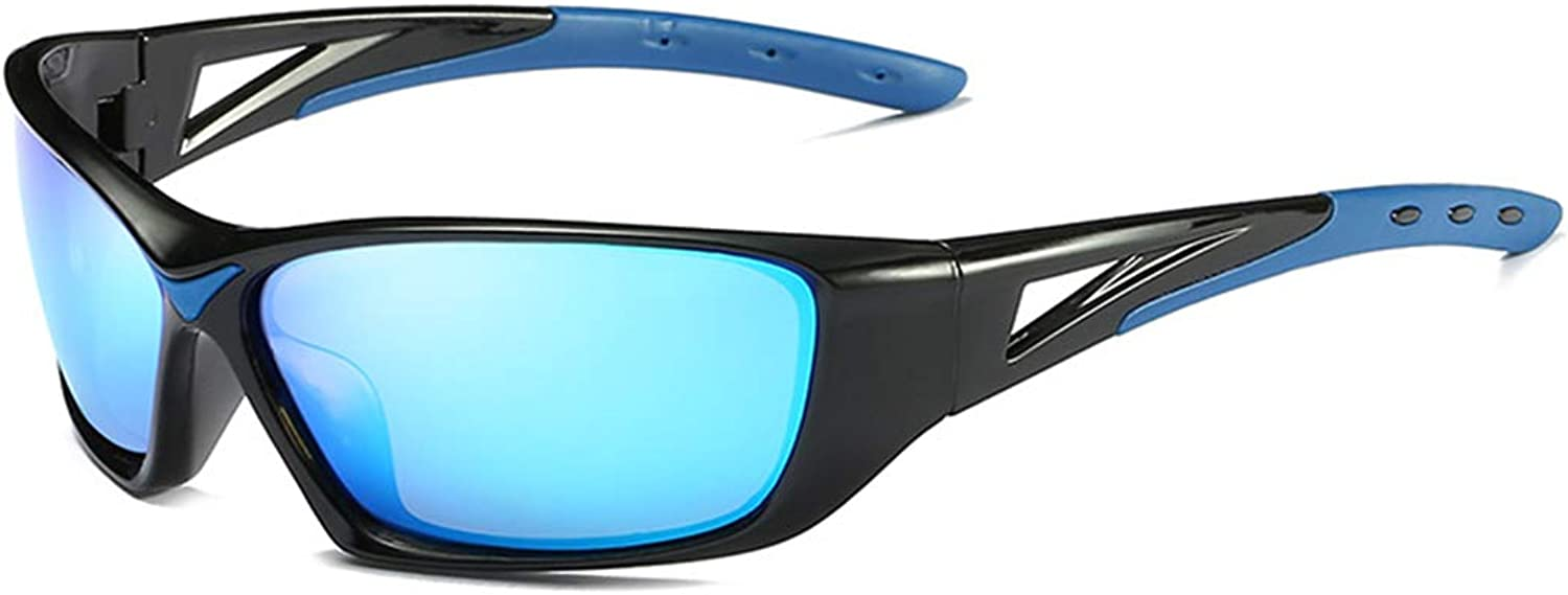 Cool colorful Full Frame Sports Sunglasses Polarized Dark Lens UV400 Predection Driving Cycling Running Fishing Sunglasses (color   A002)