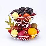 GuangYang - Set di 2 ciotole multiuso per frutta e verdura, a installazione gratuita, ideale per frutta, verdura, snack, bianco