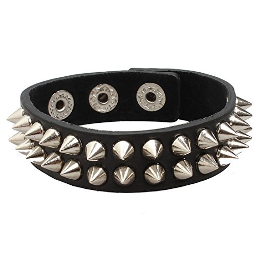 UltraByEasyPeasyStore Small Spike Goth Steampunk Bracelet Emo Punk Cyber Wrist Cuff Mens Womens Wristbands Biker Rock Vintage Gothic Style Adult steampunk buy now online