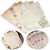 Papelería Vintage Papel BESLIME 50Pcs Papel Estilo Chino Papelería Vintage Papel, Carta Vintage Antiguo Escritura Escribir, Papel para Cartas
