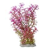 Comyglog Planta artificial de 15-20 cm para decoración de acuario, color morado y verde
