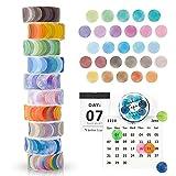 FORMIZON Washi Tape Set, 10 Rollos de Cinta Adhesiva Decorativa Washi Lunares Cintas Washi, Washi...