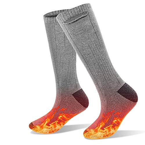 shine future Beheizbare Socken,Heizsocken Fußwärmer 3.7V 4000mAh, Fusswärmer Socken mit 3 Modus Einstellbarer Temperatur,Heated Socks,Beheizte Socken für Damen Herren Wintersport Erwärmbare Socken