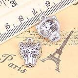 WANM 10pcs Charms Panther Leopard Head 19x15mm Antik Anhänger Vintage Tibetischen Silber Schmuck DIY für Armband Halskette