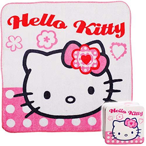 alles-meine.de GmbH magischer Waschlappen / Handtuch - Zauberwaschlappen - Hello Kitty - Katze - Frottee aus 100 % Baumwolle - Magic Towel - Waschfleck - Waschtuch - Waschhandsch..