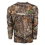 King's Camo Classic Cotton Long Sleeve Tee Shirt Realtree Edge (Large, Realtree Edge)