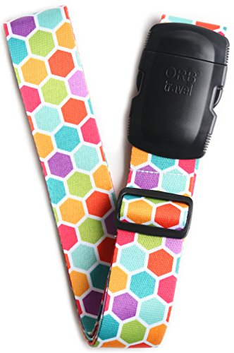 ORB Travel Premium Designer Luggage Strap -LS303-Multi-Colour-Honeycomb