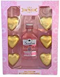 Mothers day chocolates - Gin Gifts for Women - Pink Gin Gift Set - Chocolate hearts - Valentines Day Gifts for Her - Mum - Birthday - Thank you - Hamper - Anniversary - Presents - Alcohol