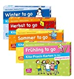 Kita-Praxis-Kartenset für den Morgenkreis. Frühling, Sommer, Herbst und Winter to go (Don Bosco Kita-Praxis-Karten)