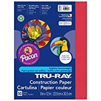 Tru-Ray PAC102993BN Construction Paper Holiday Red 9 x 12 50 Sheets per Pack 10 Packs [並行輸入品]
