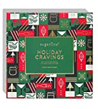Sugarfina Holiday Cravings Candy Gift Box! Includes Gummy Bears, Caramel, Sugar Cookies & Dark Chocolate Cordials! Delicious Assorted Christmas Candy! Festive Red Christmas Candy Gift! (Large)