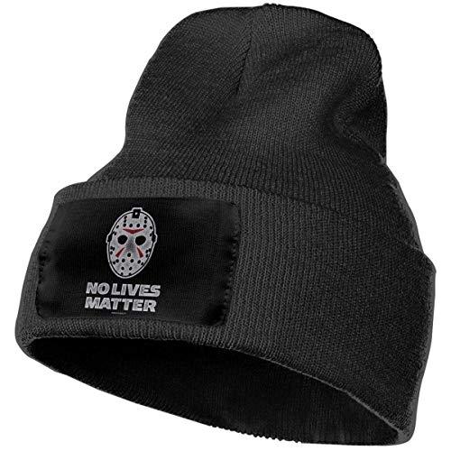 AOOEDM No Lives Matter Divertido Halloween Ski Horro Knit Beanie Cap Skull Caps Elástico Deporte