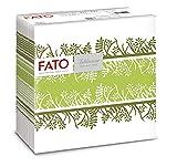 Fato - Tovaglioli in Carta a secco, Airlaid, Effetto Tessuto, Confezione da 50 tovaglioli, Formato 40x40 piegato in 4, Decoro Garden Pistacchio