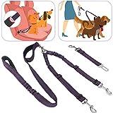 SlowTon Cinturón de Seguridad de Coche para Perros Doble cinturón de...