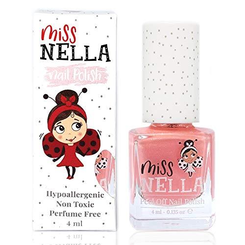 Miss Nella neue Sommerkollektion PEACH SLUSHIE- Spezieller Pfirsichfarbe Nagellack mit Glitzer für...