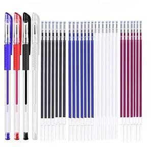 Rotuladores de tela borrables con 28 recargas Para Costura de Sastres, y Acolchado Confección, 4 colores borradores de calor plumas para varios colores de telas.