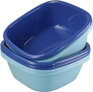 Ikando Barreño Cubeta Plastico Cuadrado, Hellblau und Tiefblau, 6 Packung