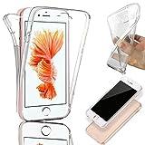 Coque pour  compatible avec iPhone 6 / 6S, Coque Silicone Gel Intégral - Transparent