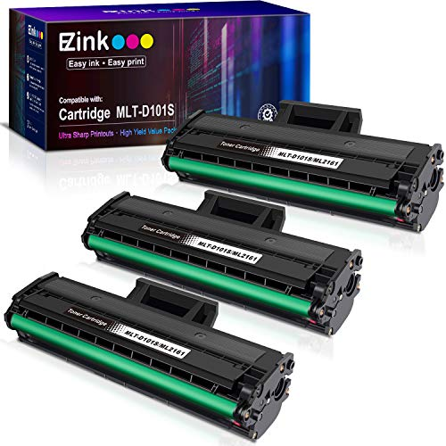 E-Z Ink (TM) Compatible Toner Cartridge Replacement for Samsung 101 MLT-D101S to use with ML-2165W SCX-3405W SCX-3405FW ML-2165 SF-760P (3 Black)