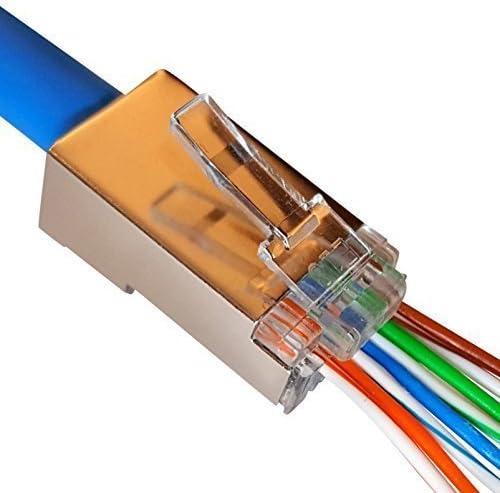 RJ45 Plug 304.8 mm 73-8891-1 RJ45 Plug Cat6 Cat6 Ethernet Cable 1 ft Pack of 20 73-8891-1 Black