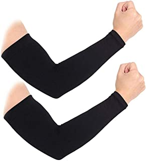 2 Pairs Cooling Arm Sleeves Cover UV Sun Protection For Unisex Stretch Sport Outdoor