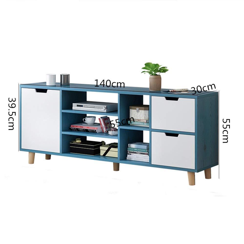 Liergou-Home Muebles Modernos Sala Soporte De Almacenamiento, Azul Armarios For TV (Color : Azul, tamaño : 140x30x55cm): Amazon.es: Hogar