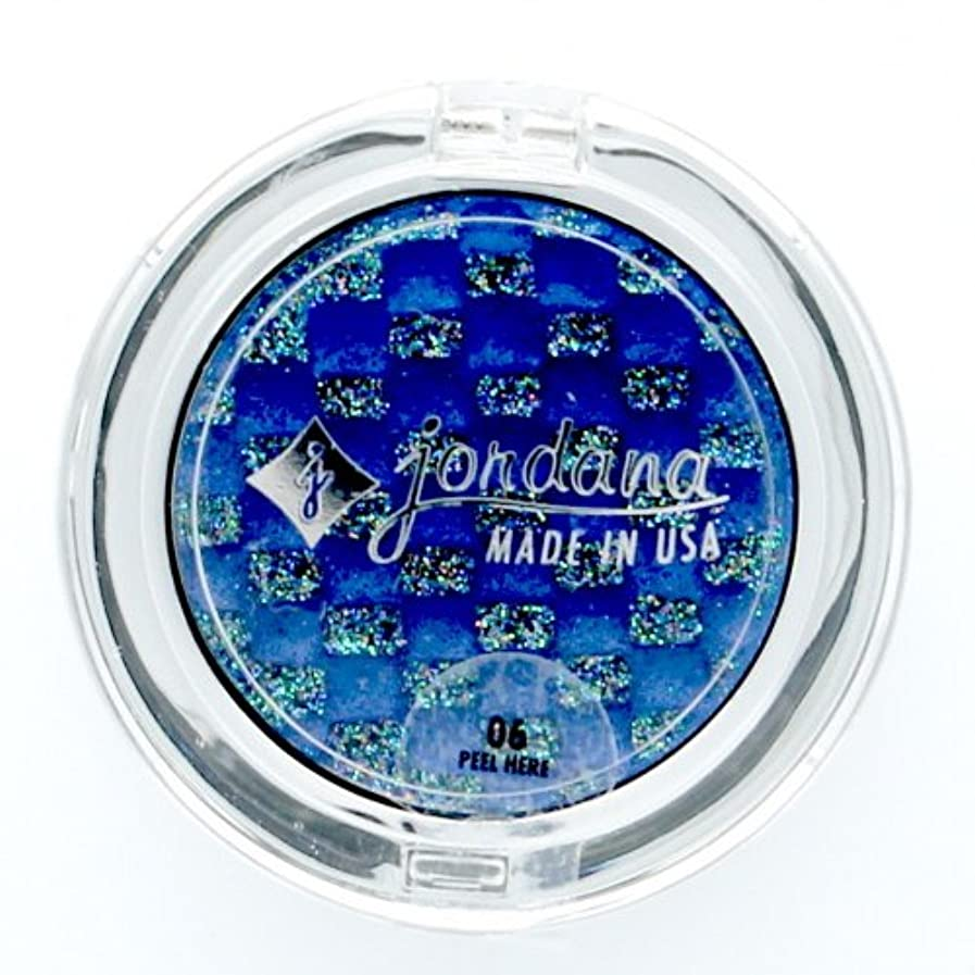 フローティンググラム現れる(3 Pack) JORDANA Eye Glam Cream Eyeshadow with Glitter on Top Only - Sapphire Stone (並行輸入品)