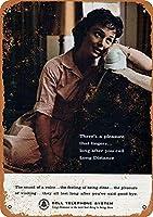 ブリキ メタル プレート サイン 2枚 1962 ベル電話長距離金属錫サイン 12 × 8 インチホームキッチン寝室バーサイン装飾ハロウィン感謝祭ギフト