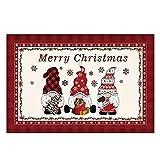 OurLeeme Gnome - Felpudo decorativo de Navidad con mensaje de...