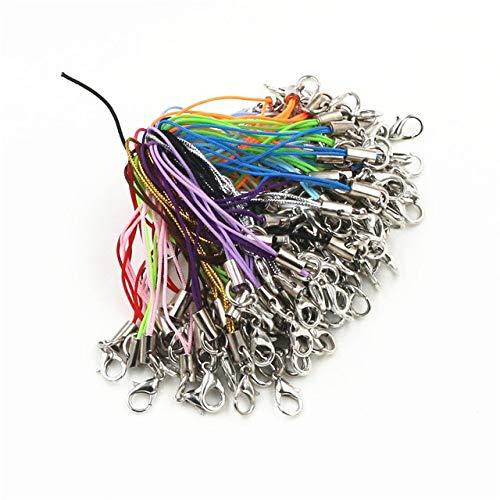 TGBN 100 Stück Verschlussseil Schlüsselanhänger Haken Lanyard Lariat Gurtschnüre Hummer Mobile Charms Tasche Zubehör Schlüsselring
