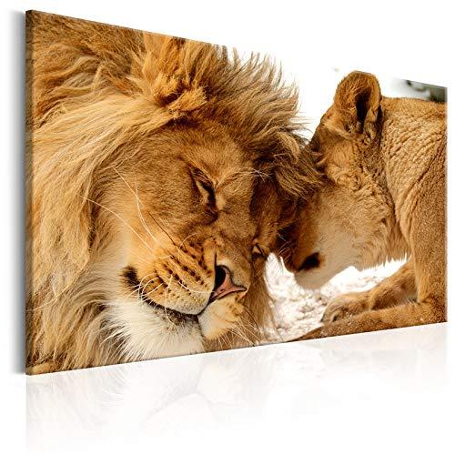 zgmtj El Rey de los Animales Pintura en Lienzo Lindo Leopardo león Carteles e Impresiones Foto Arte de la Pared Cuadros para la decoración de la Sala de Estar