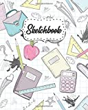 Sketchbook: Notebook for Drawing, Painting, Sketching, Writing & Doodling - 8x10, 100 Pages Blank Journal & Sketch Pad - Artistic Hand Drawn School Print For Girls