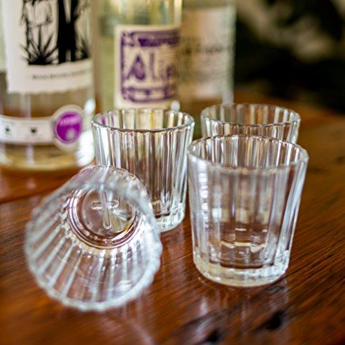 Mezcal Gläser | Das Original & Traditionelle Glas für Mezcal oder Tequila | 4er Set
