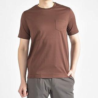 [チルコロ 1901] Tシャツ 半袖 クルーネック メンズ 春夏 コットン 綿 100% 無地 MOGAN ブラウン 茶【並行輸入品】