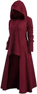 Clearance! Womens Vintage Hooded Cloak Plus Size, Casual High Low Sweater Coat Outerwear Blouse Tunic Tops L-3XL