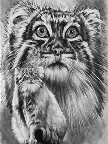 JXWH Lion Animal Tigre 5D Peinture à Faire SOI-même Broderie Diamant kit Diamant Peinture Maison Mur Décor40X50cm