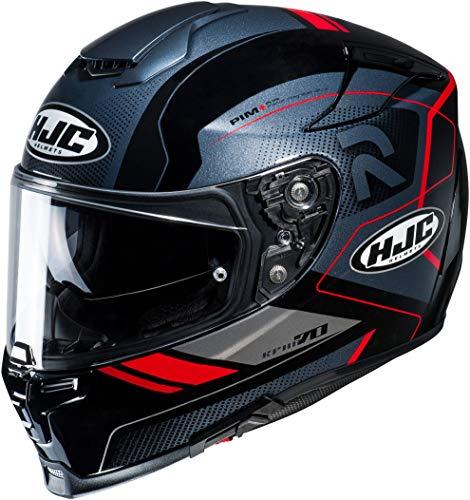 Motorradhelm HJC RPHA 70 COPTIC MC1, Schwarz/Grau/Rot, L