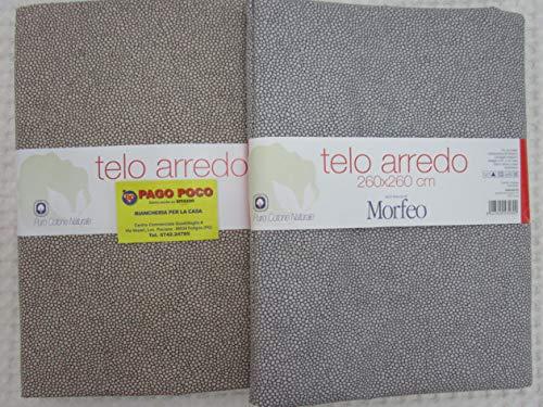 Pago Poco Mehrzweck-Tagesdecke, Überwurf Gran Foulard Design in Uni Farbe grau-beige Einzelbett 100% Baumwolle Neuheit 2020 !!!!! (beige, 260 x 260)