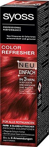 SYOSS Color Refresher Farb- und Glanzauffrischer Stufe 1 für Rotnuancen, pflegende Schaum-Formel, 3er Pack (3 x 75 ml)