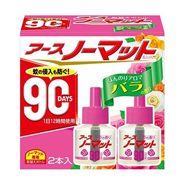 トリムプラグ応用アースノーマット 90日用 ほんのりアロマバラの香り [取替ボトル2本入] ×2個セット